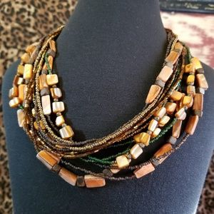 Coldwater Creek Multi-Strand Shell Necklace